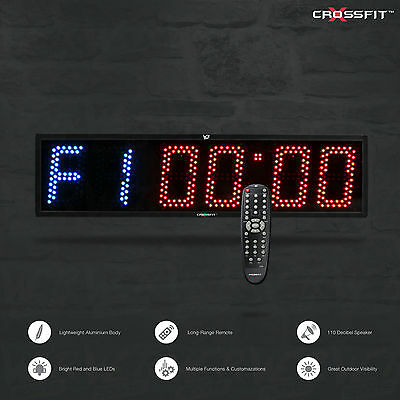 Crossfit Timer Programmable Interval Gym Boxing MMA Wall Timer & Remote Control