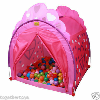 Kids Portable Princess Playhut Pit Balls Pool - Indoor Outdoor Play Tent