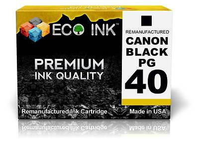 ECO INK © For Canon PG-40 PG 40 Black Ink For PIXMA MP140 MP150 MP160 MP170 1 Pk