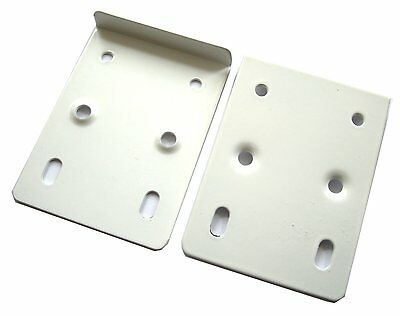2 Pack Kitchen Cabinet Hinge Repair Plates White