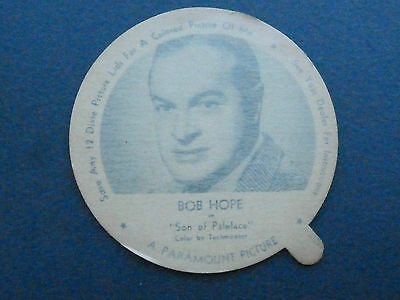 Nelson Ice cream lid Bob Hope Son of Paleface