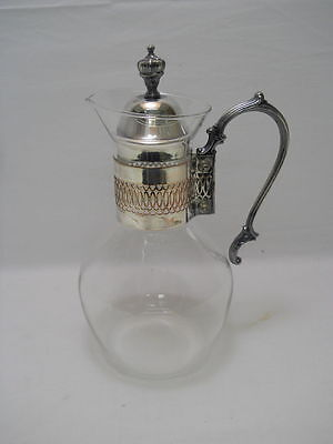 Corning Carafe Heat Resistant Coffee Tea Pitcher w/Silver Handle and Lid
