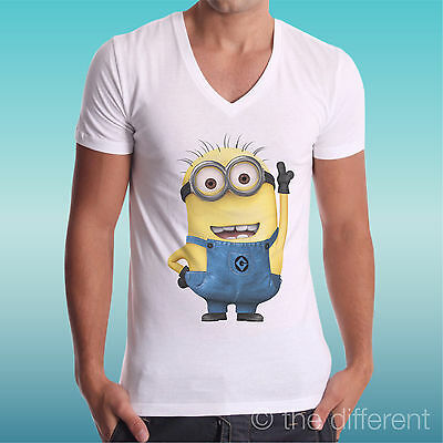 T-Shirt Collo V Minions Cattivissimo Me  The Happiness Is Have My-Shirt New