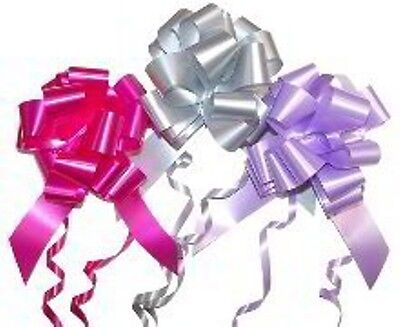 Large Pull Up Bows x 6 (selection of colours). App 110 mm in diam