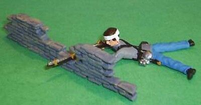 TOY SOLDIERS ACW CONFEDERATE FIRING BEHIND STONE WALL