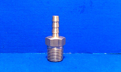 """Solid Brass Barb Fitting 1/8"""" Hose ID 1/8"""" Male NPT Coupling Air Fuel Water"""