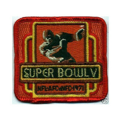 1971 Super Bowl V Nfl Football Mini Patch Colts Cowboys