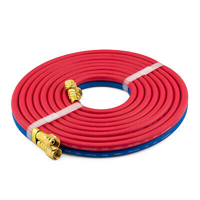 5 meter Oxy Acetylene Twin Hose with fittings - Trade Quality - Oxygen Acet - 5m