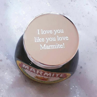 Personalised Engraved Polished Silver Plated Savoury Spread Lid - Fits 250g Jar!