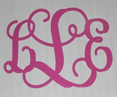 "Wall Door Monogram Painted 15"" Size Personalized Wooden Wedding Decor Child‏"