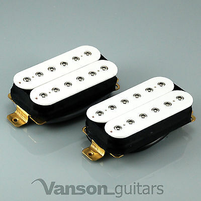 New VANSON HOT Hex-pole Humbucker Pickup SET, for Ibanez, Epiphone etc N&B White