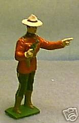 TOY SOLDIERS METAL  RCMP OFFICER WITH PISTOL 54mm