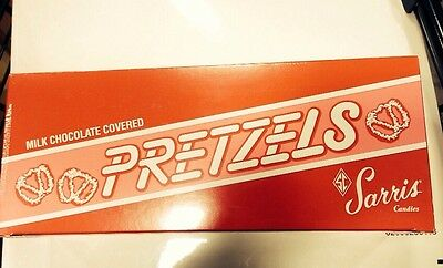 Sarris Chocolate Covered Pretzels 12 Oz Box Pittsburgh Hershey Christmas Stuffer