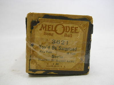 Vintage Melodee Player Piano Song Roll-3621 You'd Be Surprised (Fox Trot)