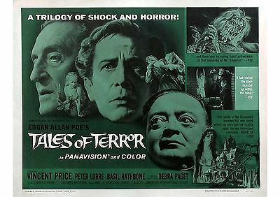 Tales of Terror - Vincent Price - Basil Rathbone - A4 Laminated Mini Poster