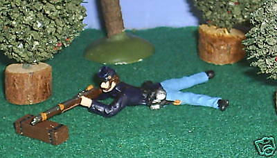 TOY SOLDIERS ACW UNION SOLDIER LAYING PRONE FIRING 54MM