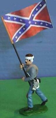 TOY SOLDIERS TIN AMERICAN CIVIL WAR CONFEDERATE FLAG BEARER 54M