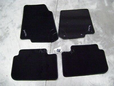 Genuine Ford Fg 2008-2012 Falcon Xr Full Set Carpet Floor Mats Grey Logo Xr6 Xr8