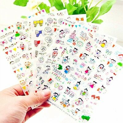 Cute Afrocat Murmuring Drawing Organizer & Day Planner Decoration Stickers