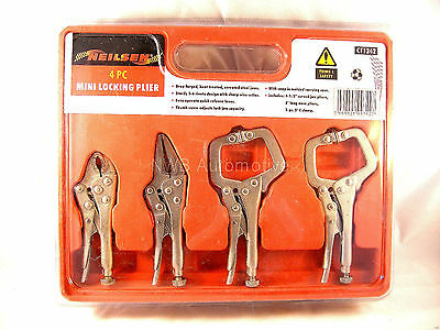 Mole Vice Grips - 4 Piece Mini Set - Ideal for Welding Jobs, NEW UK STOCK