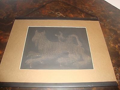 Celtic Lion---Brass Rubbing---Framed & Ready To Hang---11x14---1998