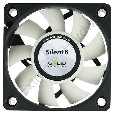 GELID Solutions Silent 6 60mm Case Fan 3200 RPM, 16 CFM, 24 dBA (FN-SX06-38)