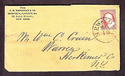 US 11 or 11a 1851 Issue 3c Washington on Cover (-133)