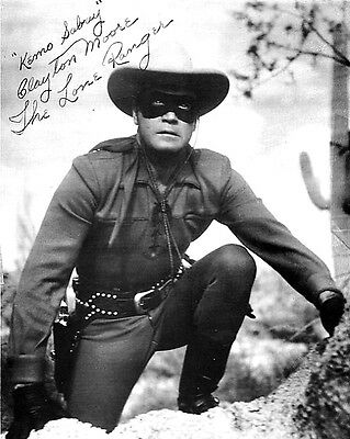 Clayton Moore (The Lone Ranger) Signed Photo Print 01