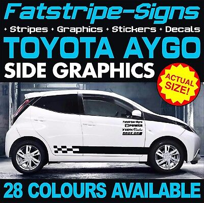 Toyota Aygo Graphics Stickers Stripes Decals Ab10 Ab40 Vvti 1.0 1.2 1.4 Trd