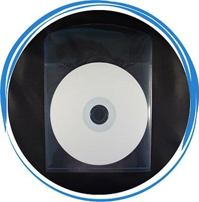 400 Premium Grade CD DVD CPP Clear Plastic Sleeve Envelope  with Flap & Tab Cut