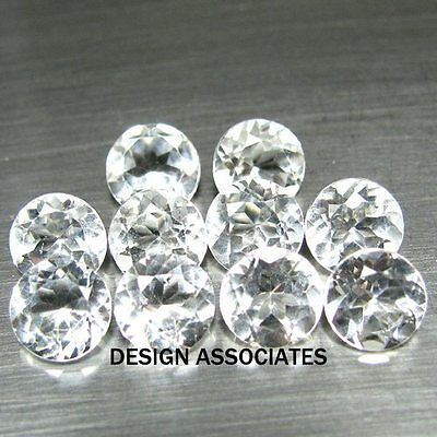 1.5 Mm Round Cut White Zircon All Natural Aaa 6 Pc Set