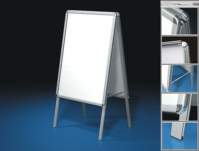 A1 A-BOARD PAVEMENT Sign Poster Snap Frame Double Side Sign Display ...