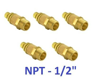 "Pneumatic Flow Control Silencer 1/2"" NPT Air Exhaust Muffler Fitting 5 Pieces"