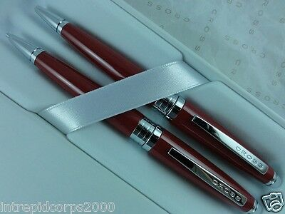 Cross  Executive Style Plasma Cardinal Red Lacquer Pen and 0.7MM Pencil Set