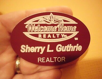Welcome Home Realty Realtor  Name Badge  Tag Personalize Free Shipping