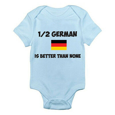 1/2 GERMAN IS BETTER THAN NONE - Germany / Europe / Novelty Themed Baby Grow