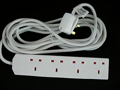 4 Way 5M, 4 Way 2M Surge Protection Extension Leads
