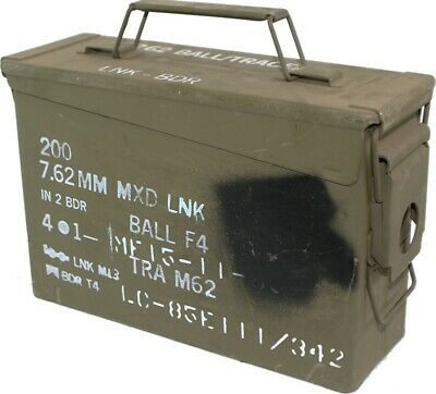MILITARY SURPLUS M19A1 - 30Cal Ammo Box