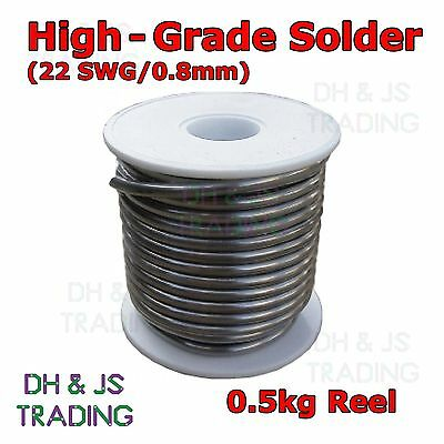 500g Reel High-Grade Fluxed Core Solder Wire 0.8mm 22swg 60/40 Suits Electronics