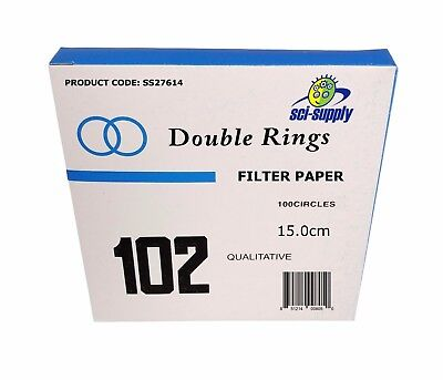 15cm Filter Paper, Qualitative, Medium, 150mm, Pkg / 100