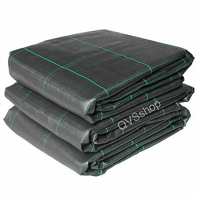 1M x 30M WEED CONTROL FABRIC COVER SHEETS Garden Landscape Path Patio Membrane