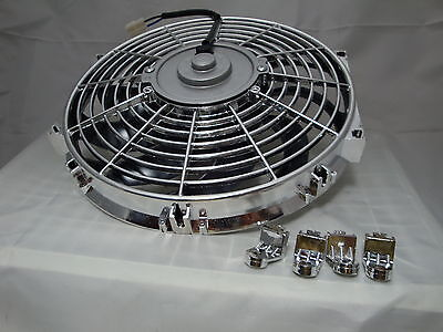 12 Inch Low Profile Chrome High Performance Thermo Fan S1