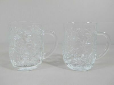 SALE! Princess House FANTASIA-CLEAR Set of 2 Mugs