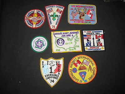 8 Boy Scout Camp Patches from All over the World                 fx