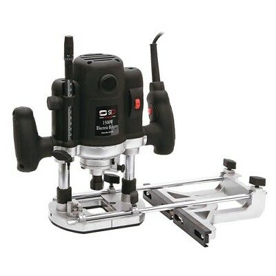 """SIP (S.I.P) 01478 1/2"""" 1500w Variable Speed Woodworking Router +Case/Accessories"""