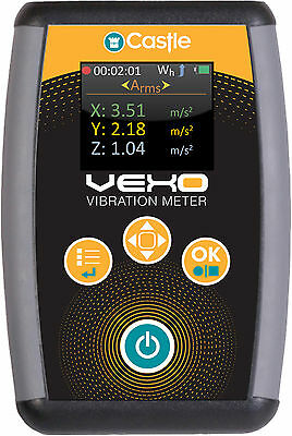 Castle GA2006H Vexo Professional Tri Axial HAVS Vibration Meter with Colour LCD