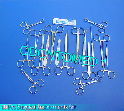 40 Pcs Spay Pack Kit Surgical Veterinary Instrument OR