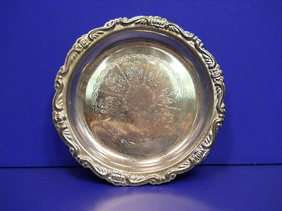 Vintage Silver Plated Epon Steel Tea Cup Plate