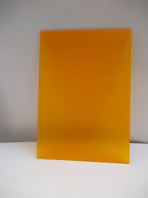 4Mm Frosted Orange  Acrylic Perspex Plexiglass  Panel Sheet 297Mm X 210Mm A4