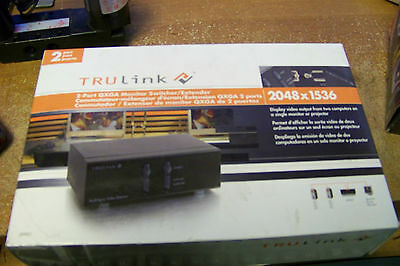 nib C2G / Cables to Go 39901 TruLink 2-Port QXGA Monitor Switcher/Extender